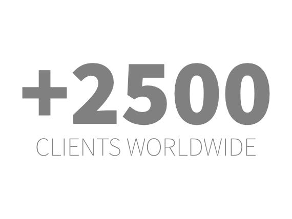 2500 clients au monde
