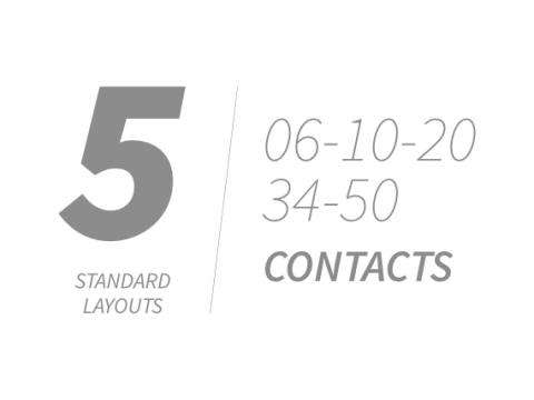 Standard layout contact types
