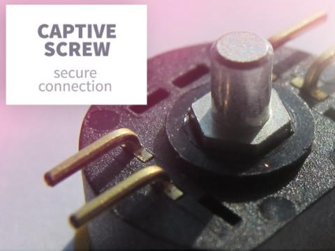 Captive screw omm secure connection