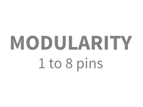 modularity 1 to 8 pins omm