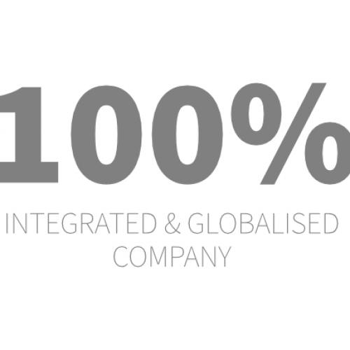 100% integrated & globalised company